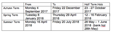 term dates 2