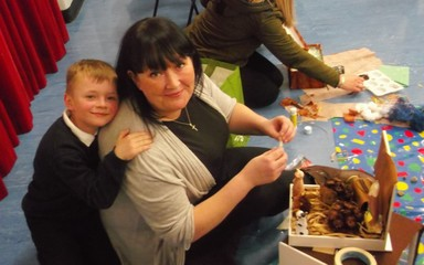Year 2 build habitats at Family Friday