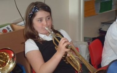 Playing the trumpet in Year 4