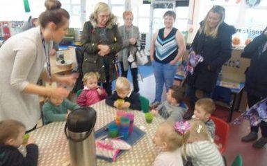 Nursery find some 'Room on The Broom'