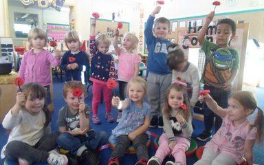 Nursery celebrate Remembrance Day