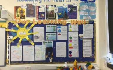 Our Learning Wall in Year 3