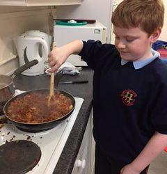Year 5 enjoy Cookery Club