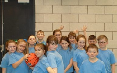 Year 5 basketballers in their first tournament!