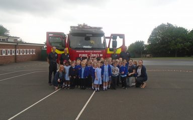 Fire Brigade Visit Nursery and Reception
