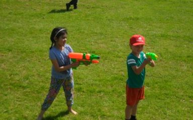 The annual water fight!!