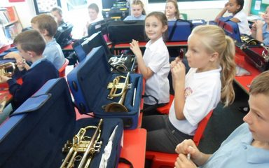 Year 4 trumpeters