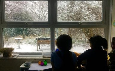 Enjoying the snow in Year 3