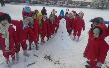Snow Day in Reception