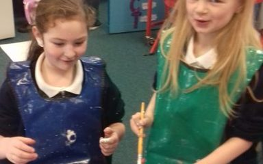 Year 2 have loads of 'arty clarty' fun