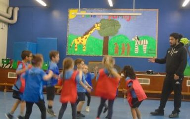 Basketball with Newcastle Eagles in Y1EB