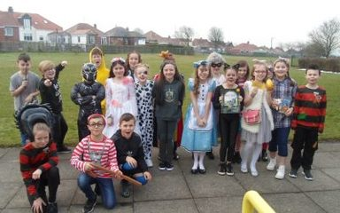 Year 5 enjoy World book Day