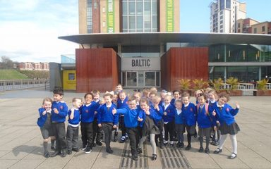 Reception classes visit the BALTIC