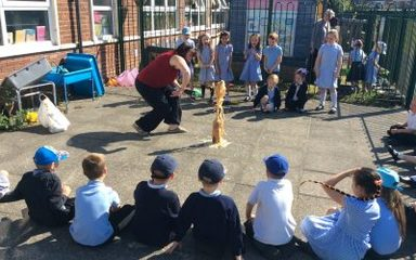 Mentos and coke explosions in science week