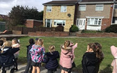 Year 1 walk around our local area looking at houses