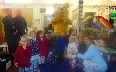 Pudsey visits Nursery!