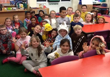 Pyjama Day in Y3EB