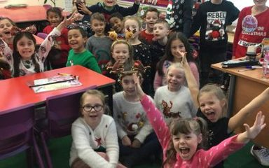 Christmas Jumper Day in Y3 EB