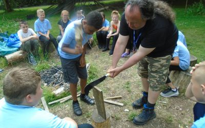 Year 6 Forest School with Mr Allom